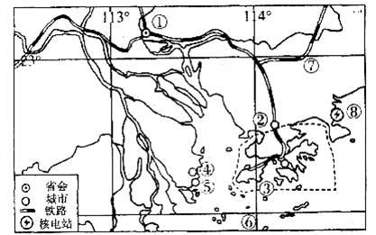 读珠江三角洲地区示意图