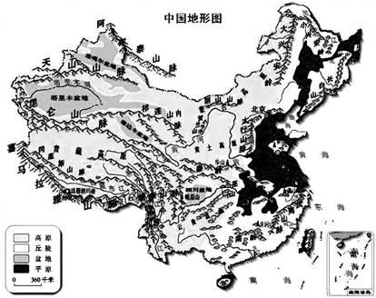 初中地理地势和地形试题列表-初中地理中国的自然