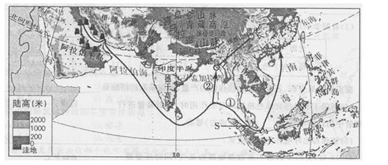 (3)请概括中南半岛的地表形态