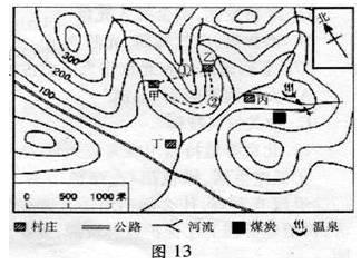 初中地理地图试题列表 初中地理地球和地图