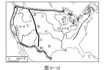 讀美國地形簡圖
