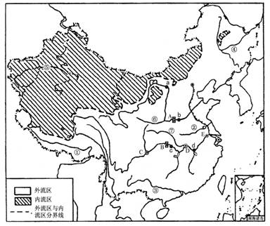 """读""""我国主要河流水系图"""",回答以下问题"""